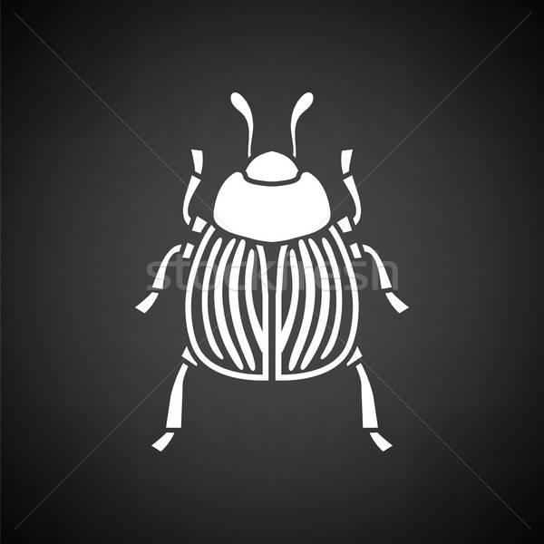 Colorado besouro ícone preto e branco jardim fazenda Foto stock © angelp