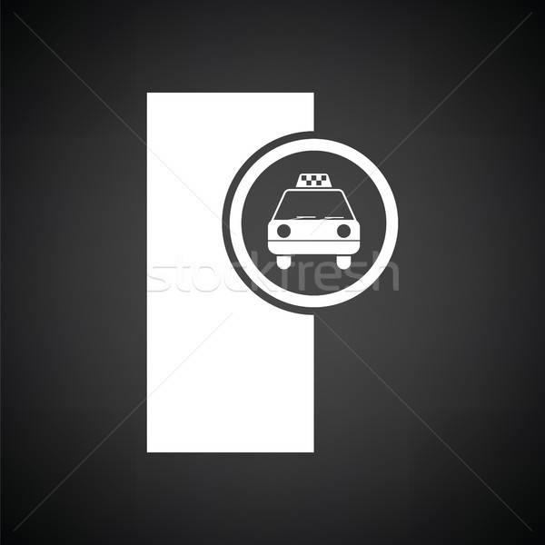 Stock photo: Taxi station icon