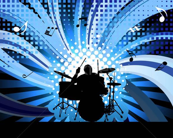 rock group drummer Stock photo © angelp