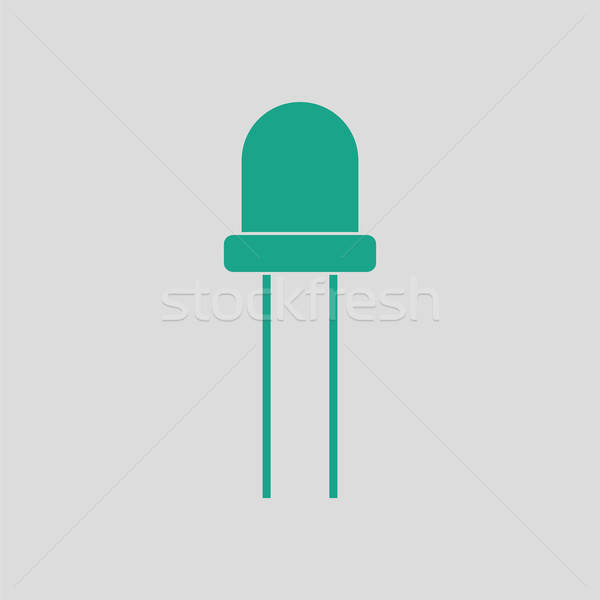 Diodo ícone cinza verde luz tecnologia Foto stock © angelp