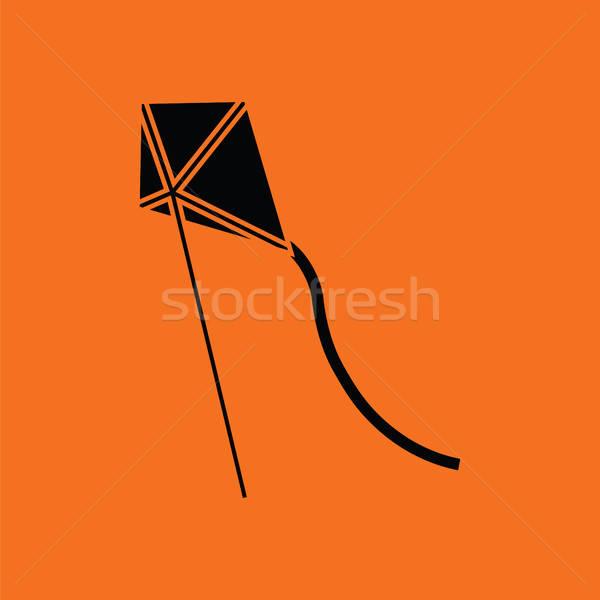 Kite in sky icon Stock photo © angelp