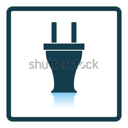 électrique plug icône internet technologie signe Photo stock © angelp