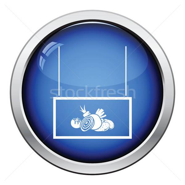 Legumes mercado departamento ícone botão Foto stock © angelp