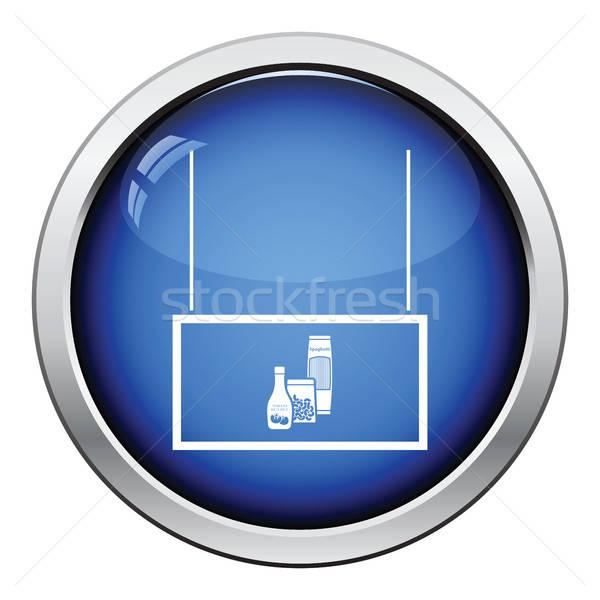 Mercearia mercado departamento ícone botão Foto stock © angelp