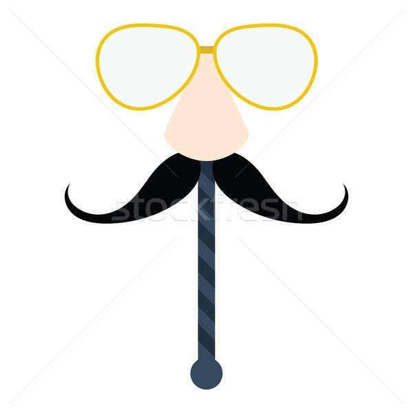 Occhiali baffi icona colore design occhi Foto d'archivio © angelp