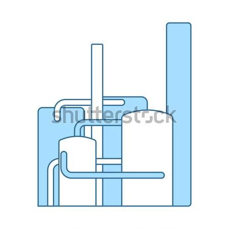 Podwoić umywalka ikona kolor projektu wody Zdjęcia stock © angelp