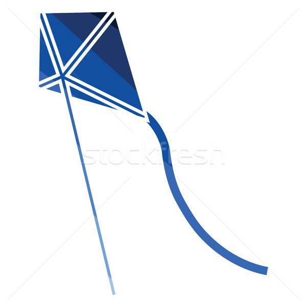 Kite hemel icon kleur ontwerp papier Stockfoto © angelp