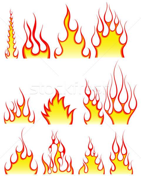 火災 パターン セット 異なる デザイン にログイン ストックフォト © angelp