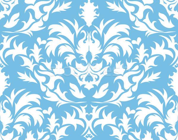 Damast naadloos abstract vector ontwerp blad Stockfoto © angelp