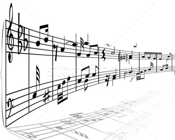 Note musicali vettore design sfondo discoteca chiave Foto d'archivio © angelp