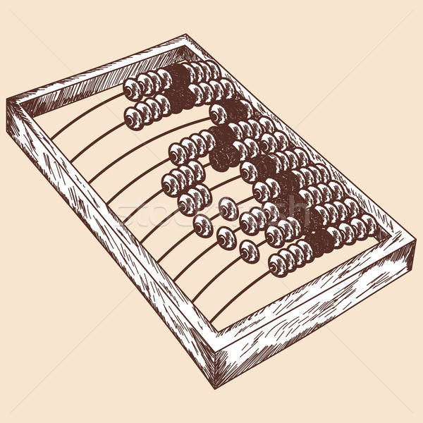 Wooden abacus sketch Stock photo © angelp