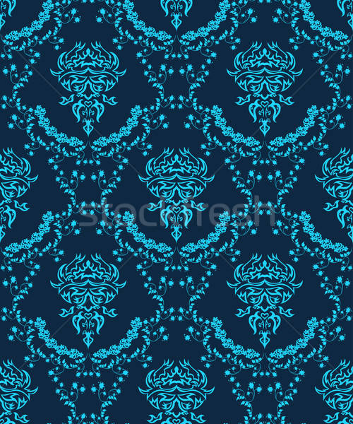 Sin costura damasco patrón vector fácil Foto stock © angelp