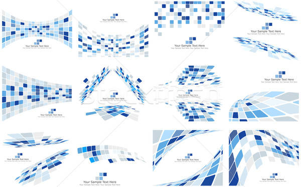 Set of Checkered Backgrounds Stock photo © angelp
