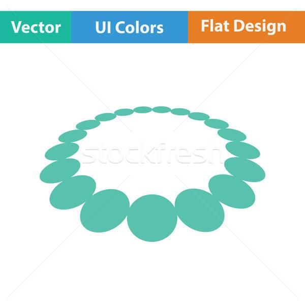 Sieczka ikona projektu szkła tle zakupy Zdjęcia stock © angelp