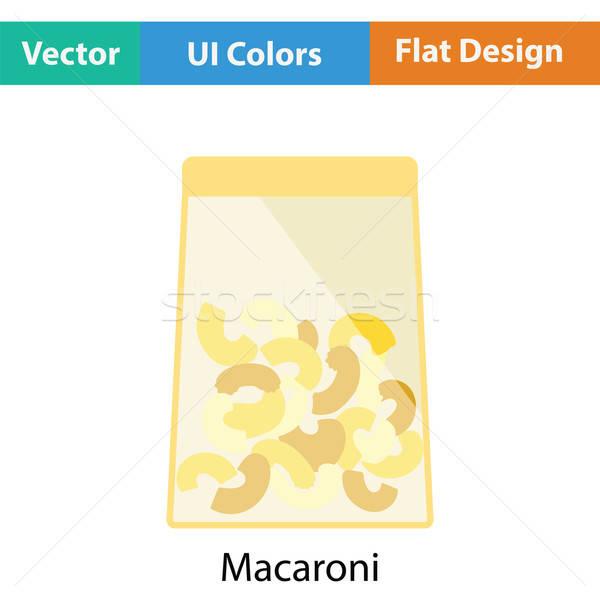 Macaroni package icon Stock photo © angelp