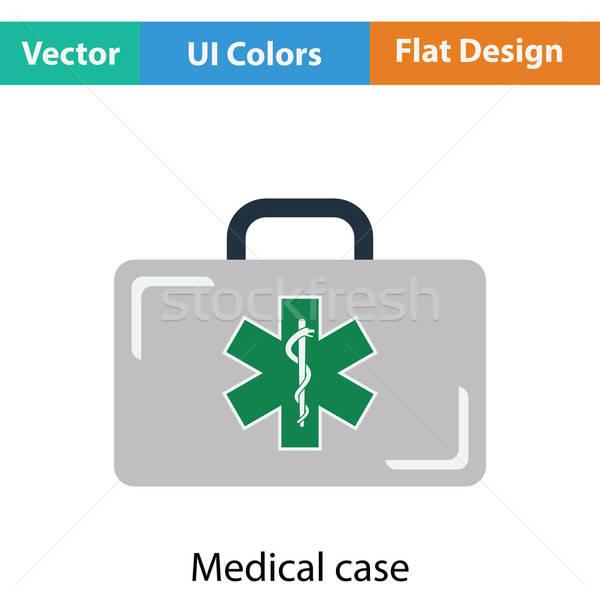 Caso icona medici colore design cross Foto d'archivio © angelp