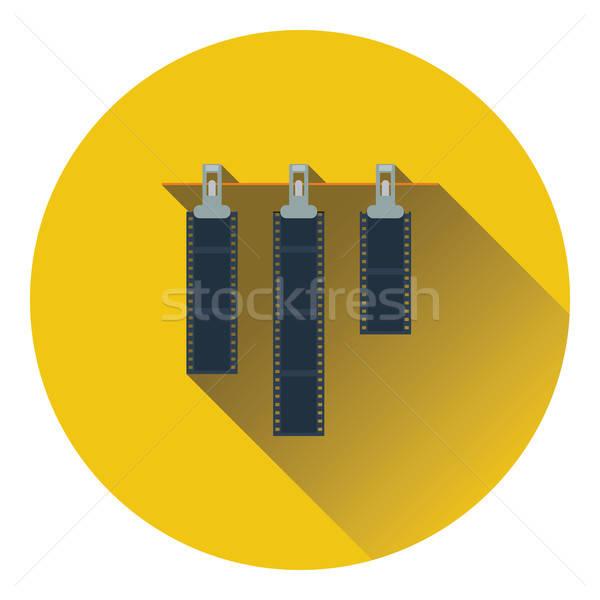 Icon foto film touw wasknijper kleur Stockfoto © angelp