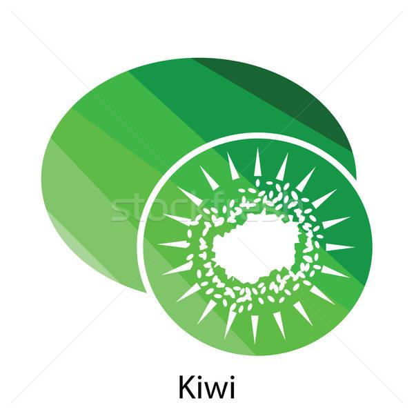 Kivi ikon renk dizayn imzalamak yeşil Stok fotoğraf © angelp