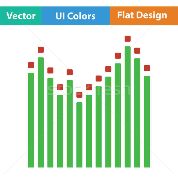 Grafikus hangszínszabályozó ikon szín terv absztrakt Stock fotó © angelp