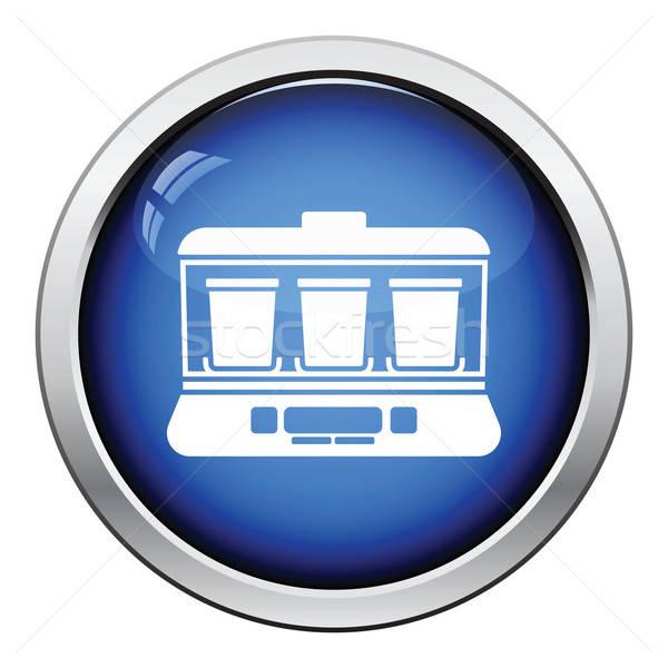 Yogurt maker machine icon Stock photo © angelp