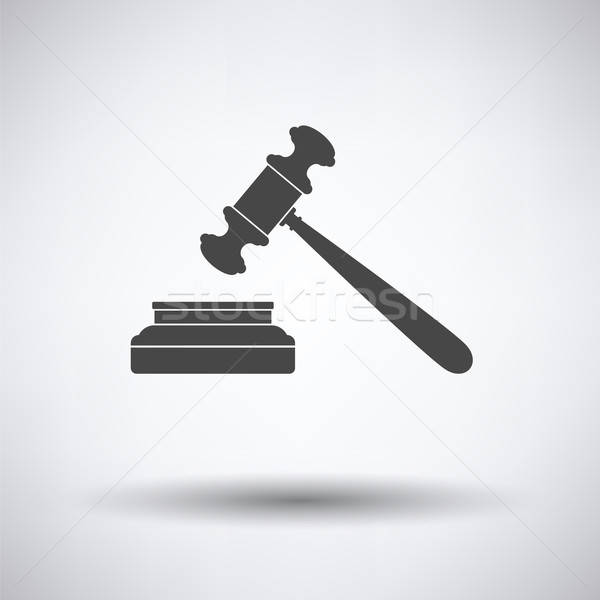 Judge hammer icon Stock photo © angelp