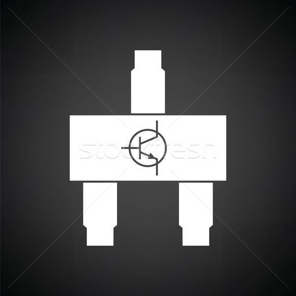 Ikon feketefehér számítógép technológia felirat tudomány Stock fotó © angelp