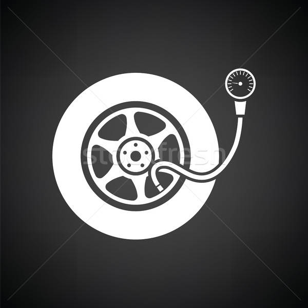 Stock photo: Tire pressure gage icon
