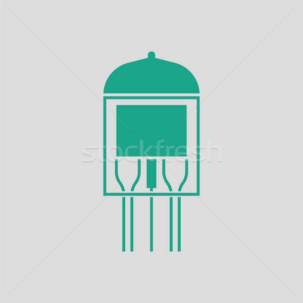 Stok fotoğraf: Elektronik · vakum · tüp · ikon · gri · yeşil