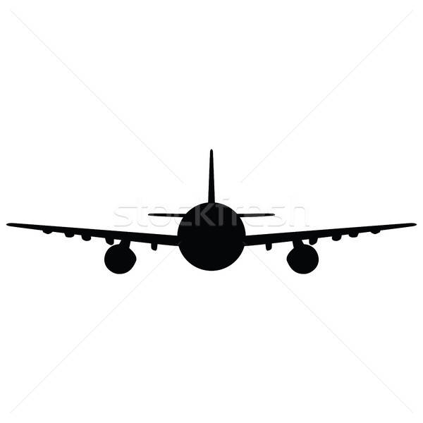 Airplane silhouette Stock photo © angelp