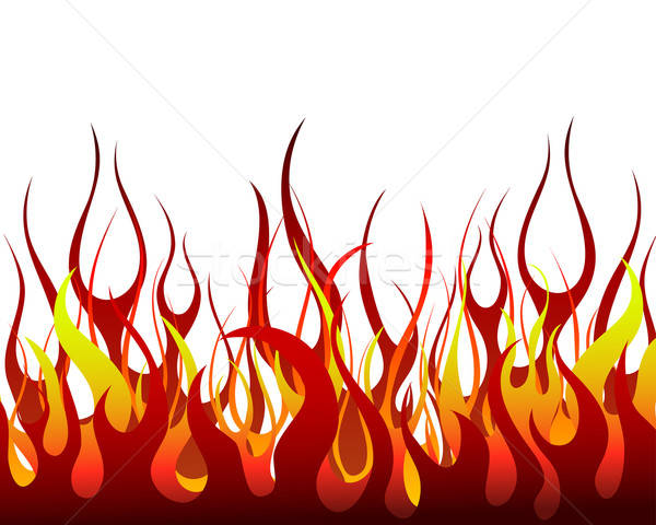 огня ад вектора дизайна знак черный Сток-фото © angelp