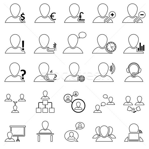 Stock photo: Office and People Icon Set