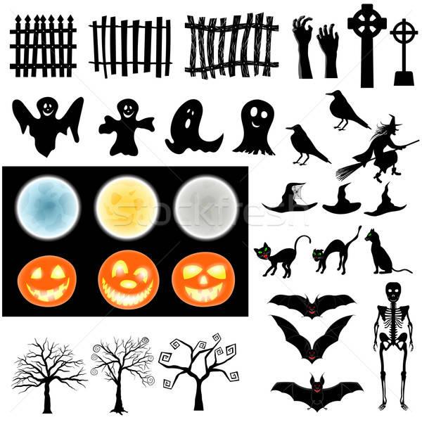 Stock photo: Halloween Elements  Set