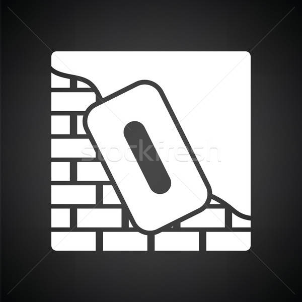 Icon of plastered brick wall  Stock photo © angelp