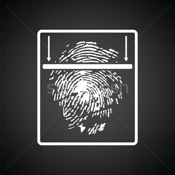 Fingerprint scan icon Stock photo © angelp