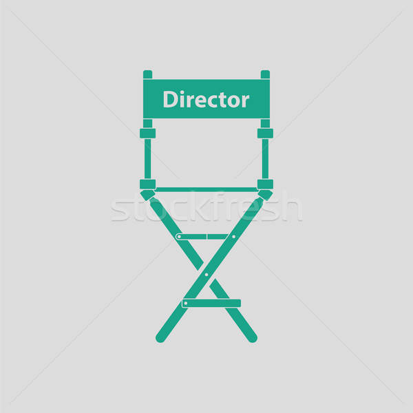 Director chair icon Stock photo © angelp