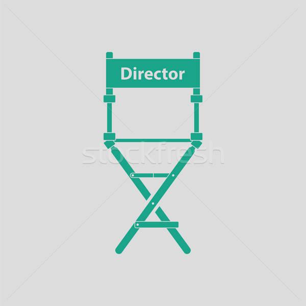 Diretor cadeira ícone cinza verde filme Foto stock © angelp