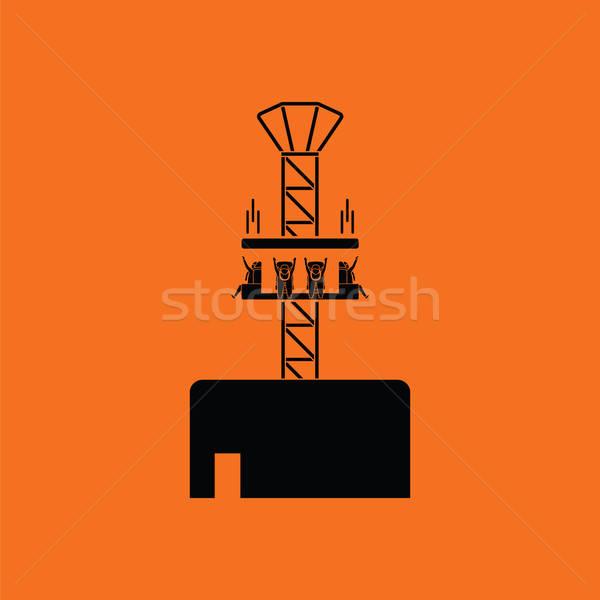ícone laranja preto verão saltar silhueta Foto stock © angelp