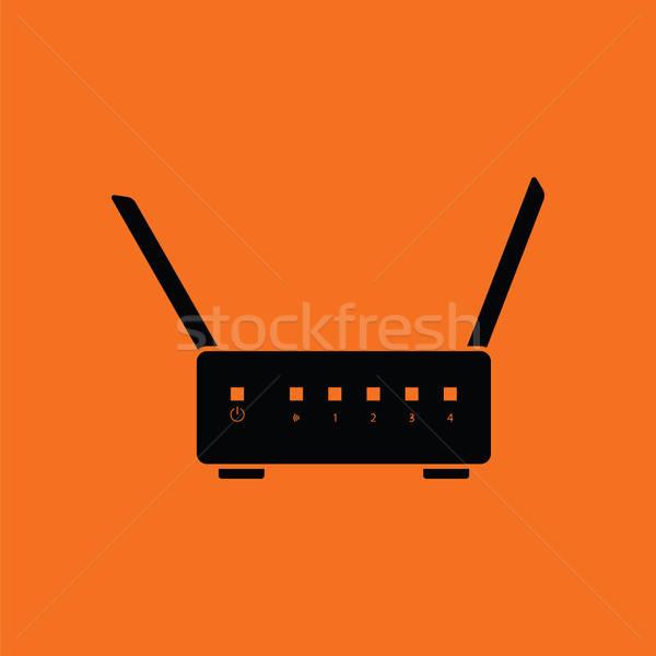 Wi-Fi router icon Stock photo © angelp