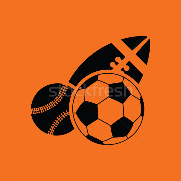 Stock fotó: Sport · golyók · ikon · narancs · fekete · futball