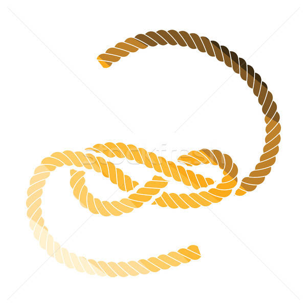 Knoted rope  icon Stock photo © angelp