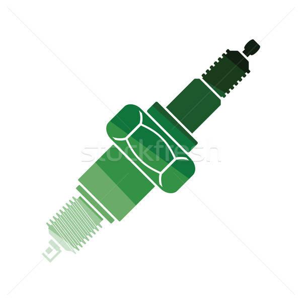Susciter plug icône couleur design voiture Photo stock © angelp