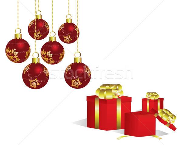Сток-фото: Рождества · красивой · вектора · Новый · год · дизайна · природы