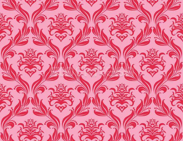 Naadloos damast patroon vector gemakkelijk Stockfoto © angelp