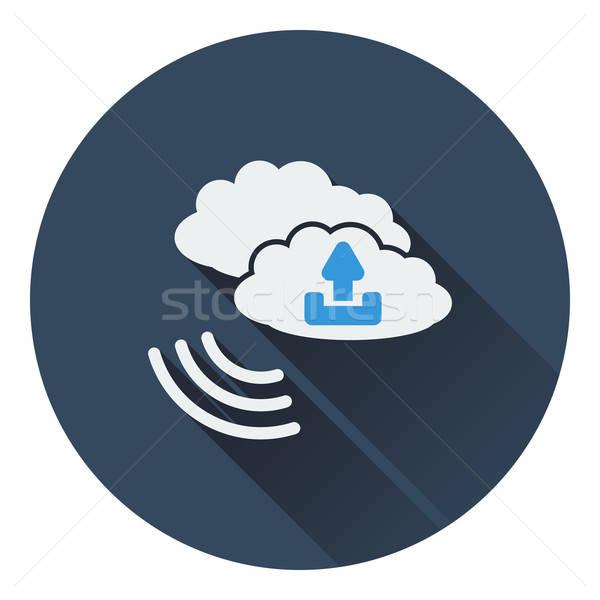 Felhő feltöltés ikon üzlet számítógép telefon Stock fotó © angelp