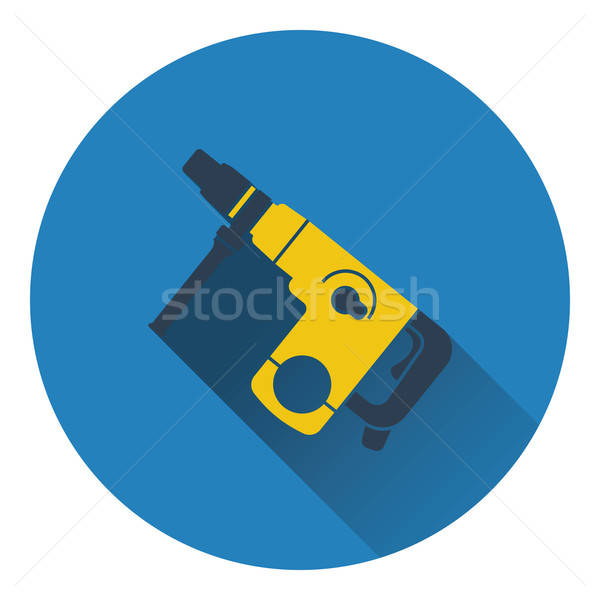 Icon of electric perforator Stock photo © angelp