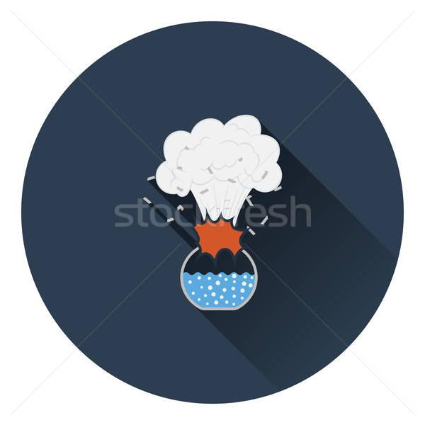 ícone explosão química cor projeto Foto stock © angelp