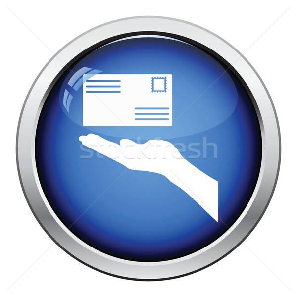 стороны письме икона кнопки Сток-фото © angelp