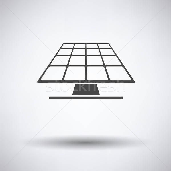 Energía solar panel icono gris sol naturaleza Foto stock © angelp