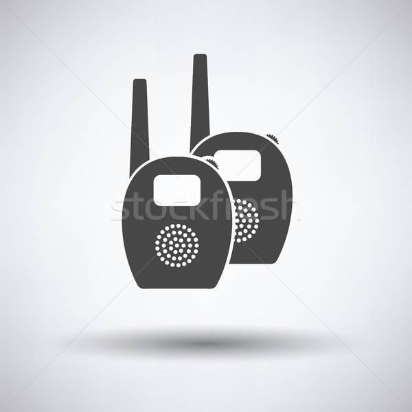 Foto stock: Bebé · radio · supervisar · icono · fondo · signo