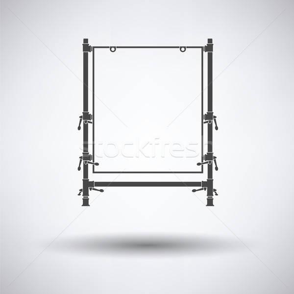 Ikon tablo nesne fotoğrafçılık gri arka plan Stok fotoğraf © angelp